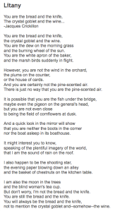 Days 2 & 3 of National Poetry Month: Litany by Billy Collins