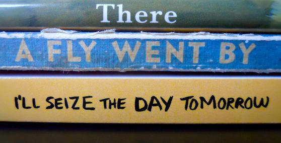 lazyday, spine poem by Annette Simon