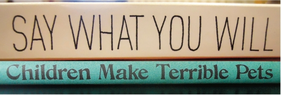 book spine poem, spine poetry, ©2014Annette Simon
